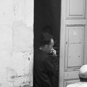 Cuba Portfolio 2013 Standing in doorway of church he concentrates on his thoughts...